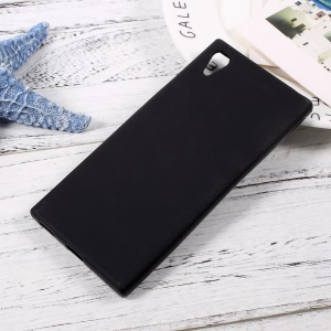 For Sony Xperia XA1 Matte Skin Soft TPU Cellphone Cover Case - Black