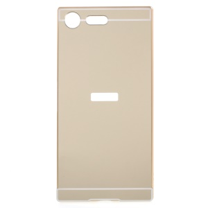 Sliding Plated Metal Frame PC Phone Shell Cover for Sony Xperia XZ Premium - Gold
