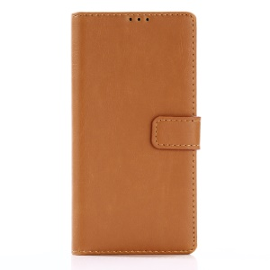 For Sony Xperia XA1 Retro Style PU Leather Case Wallet Crazy Horse Texture - Brown