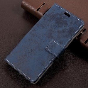 Retro Style PU Leather Stand Mobile Casing for Sony Xperia L1 - Blue