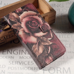 Callfree Folio Flip Leather Wallet Cover Case for Sony Xperia XA / XA Dual - Gothic Rose