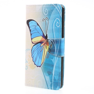 For Sony Xperia XA1 Ultra Printing Pattern Leather Wallet Stand Case Cover  - Multi-color Butterfly