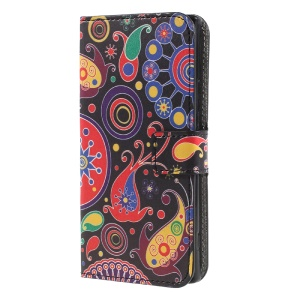 For Sony Xperia XA1 Patterned Stand Leather Wallet Phone Casing Accessory - Paisely
