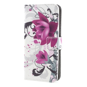 Printing Pattern Stand Leather Wallet Mobile Casing for Sony Xperia XA1 - Beautiful Flowers