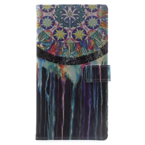 Pattern Printing Wallet Leather Phone Casing for Sony Xperia XA1 - Dream Catcher