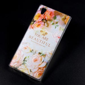 Embossing Patterned TPU Phone Shell for Sony Xperia L1 - You Are Beautiful