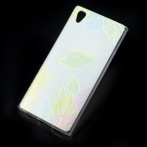 Patterned TPU Embossment Mobile Cover for Sony Xperia L1 - Colored Leaves