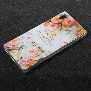 Patterned TPU Embossment Mobile Cover for Sony Xperia XA1 - You Are Beautiful