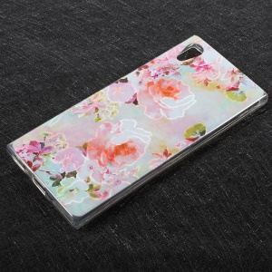 Embossing Patterned TPU Back Case Cover for Sony Xperia XA1 - Blooming Flowers