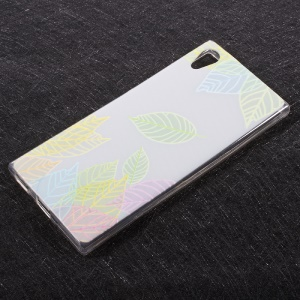 For Sony Xperia XA1 Embossing Patterned TPU Back Case Cover - Colored Leaves