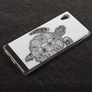 Soft TPU Embossed Pattern Cell Phone Back Cover for Sony Xperia XA1 - Turtle