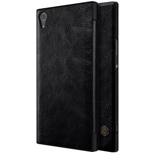 NILLKIN Qin Leather Folio Card Holder Case for Sony Xperia XA1 Ultra - Black