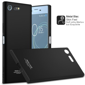 IMAK TPU Soft Phone Case + TPU Explosion-proof Screen Film for Sony Xperia XZ Premium - Metal Black