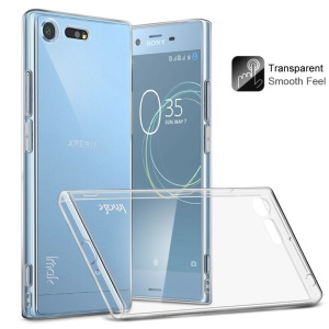 IMAK Clear TPU Soft Mobile Phone Case + TPU Explosion-proof Screen Film for Sony Xperia XZ Premium - Transparent