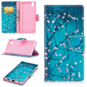 Impressão de padrões PU Leather Stand Wallet Phone Casing para Sony Xperia L1 - Wintersweet