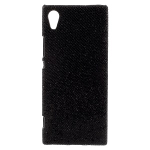 PU Leather Coated Hard PC Back Protective Case for Sony Xperia XA1 - Black Sequins