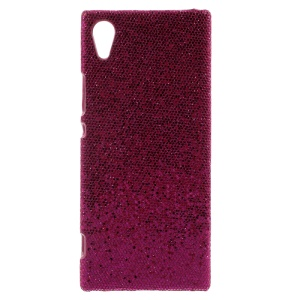 PU Leather Coated Hard PC Mobile Phone Case Shell for Sony Xperia XA1 - Rose Sequins