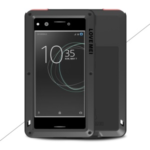 LOVE MEI Powerful Shockproof Dropproof Dirtproof Protector Case for Sony Xperia XZ Premium - Black