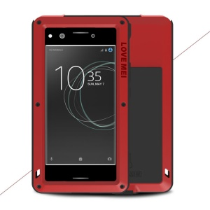 LOVE MEI Powerful Shockproof Dirtproof Dropproof Protector Phone Case for Sony Xperia XZ Premium - Red