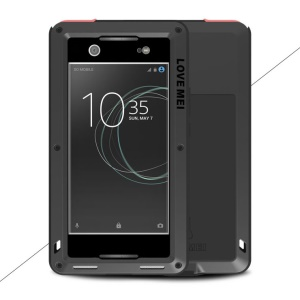 LOVE MEI poderoso para Sony Xperia XA1 Shockproof Dropproof Dirtproof Protector Phone Case - negro