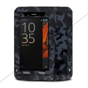 LOVE MEI Camo Series Shockproof Dirt-proof Drop-proof Camouflage Protector Shell for Sony Xperia XZs / XZ - City