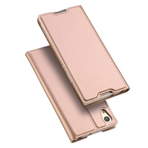 DUX DUCIS Skin Pro Series Business Leather Mobile Casing with Stand for Sony Xperia XA1 - Rose Gold