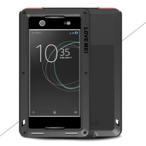 LOVE MEI Powerful Shockproof Snow-proof Dirt-proof Metal Case for Sony Xperia XA1 Ultra - Black