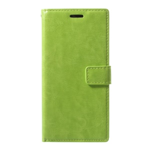 For Sony Xperia XA1 Crazy Horse PU Leather Wallet Stand Cellphone Case - Green