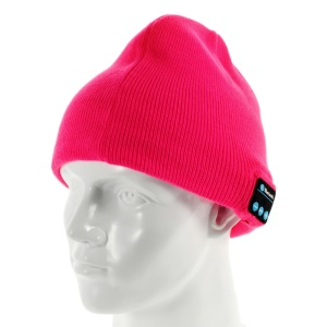 Sports Hands-free Bluetooth Headset Warm Knit Hat - Red