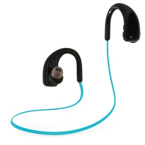 Sports Sweatproof Wireless Stereo Bluetooth 4.0 Headset Hearphone SM808A - Blue