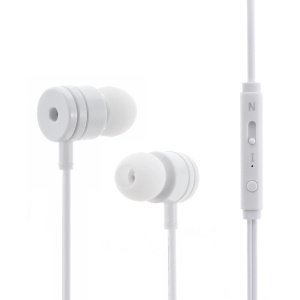 MOSIDUN M21 3.5mm In-ear Stereo Earbud Earphone with Mic for iPhone - White