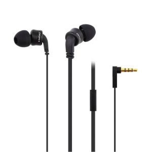 AWEI ES-13i 3.5mm Mega Bass Stereo In-ear Earphone with Mic for iPhone, iPad, Samsung, etc - Black