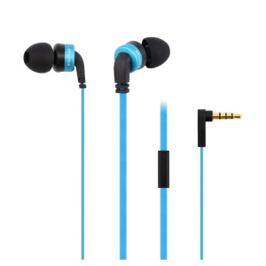 AWEI ES-13i 3.5mm Mega Bass Stereo In-ear Earphone with Mic for iPhone, iPad, Samsung, etc - Blue