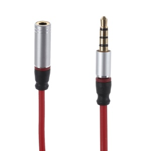 3.5mm Male to Female Extension Audio Cable for iPhone Samsung LG etc - Red