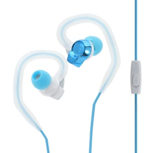 LANGSTON SP80 3.5mm In-ear Sports Earphone with Hook for iPhone Samsung LG Huawei etc - Blue