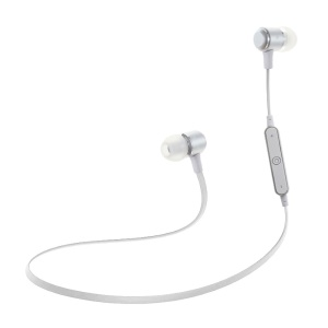 G11 Wireless Sports Bluetooth 4.1 Stereo In-ear Earphone with Mic and Clip - Silver