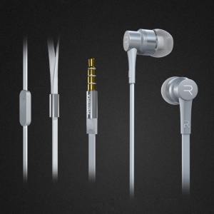 REMAX 535 3.5mm In-ear Metallic Stereo Earphone Headset with Mic for iPhone Samsung Sony - White