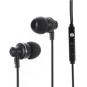 IMI M300 3.5mm Metal Skin Earphone Headset with Mic for iPhone - Black