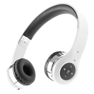 Foldable Bluetooth 3.0 Over-ear Stereo Headset for iPhone iPad Samsung Sony etc - White