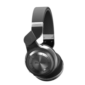 Black BLUEDIO T2 Bluetooth 4.1 Over-ear Folding Headphone with Mic, Support APP