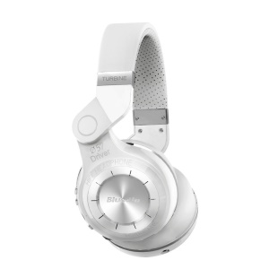 White BLUEDIO T2 Bluetooth 4.1 Over-ear Folding Headphone with Mic, Support APP