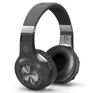 BLUEDIO HT Turbine 57mm Driver Bluetooth 4.1 Over-ear Headphone with Mic Line In/Out - Black