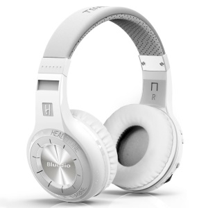 BLUEDIO HT Turbine 57mm Driver Bluetooth 4.1 Over-ear Headphone with Mic Line In/Out - White