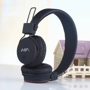 NIA X2 4-in-1 Bluetooth Hands-free Headphone Support Micro SD Player / FM Radio / 3.5mm Cable - Black