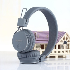 NIA X2 4-in-1 Bluetooth Hands-free Headphone Support Micro SD Player / FM Radio - Grey
