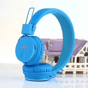 NIA X2 4-in-1 Bluetooth Hands-free Headphone Support Micro SD Player / FM Radio - Blue