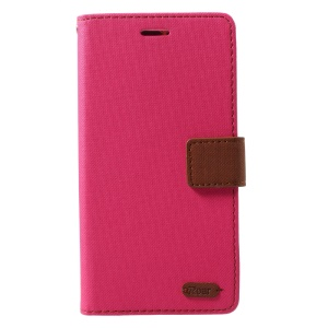 ROAR KOREA Twill Grain Wallet Leather Phone Case for LG X Power 2 - Rose