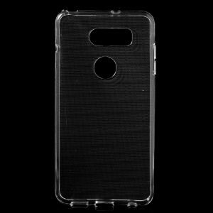 For LG V30 Soft Clear TPU Cellphone Case Cover with Non-slip Inner - Transparent