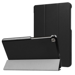 Tri-fold Leather Tablet Cover with Stand for LG G pad 4 8.0 - Black