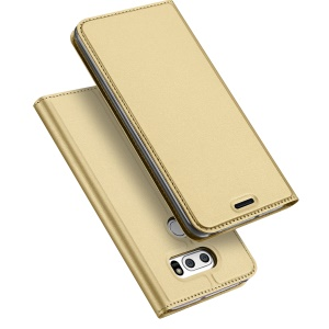 DUX DUCIS Skin Pro Series Card Slot Stand Leather Cover for LG V30 - Gold